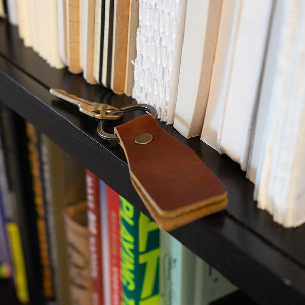 Small Tag Leather Keychain - Great gift
