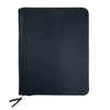 Aspen Leather Zippered Padfolio - Black