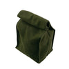 Canvas + Leather Roll Top Lunch Bag - Medium -