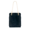 Catalina Canvas Leather tote - Black canvas + Natural