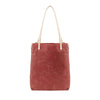 Catalina Canvas Leather tote - Coral canvas + Natural