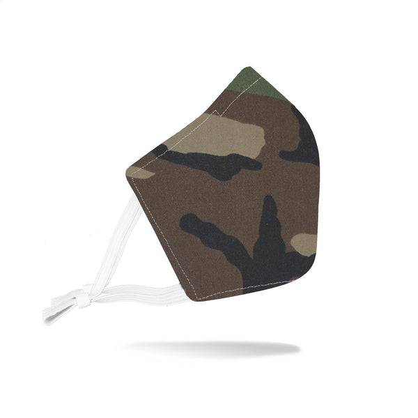 Adjustable Rustico Face Mask - Woodland Camo