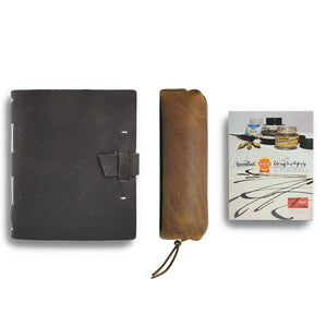 translation missing: en.translation missing: en.Calligraphy Leather Journal Gift Set