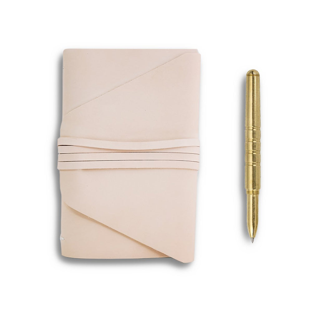 translation missing: en.translation missing: en.Messenger Leather Journal + Brass Pen Gift Set