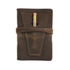 Leather Golf Log with Pocket - Dark Brown