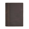 Large Leather Composition Cover - Dark Brown / Machine Sewn