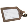Leather Luggage Tag - Dark Brown / Machine Sewn