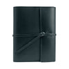 Writers Log Small Refillable Leather Notebook - Black