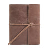 Writers Log Small Refillable Leather Notebook - Dark Brown