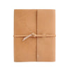 Writers Log Large Leather Notebook - Buckskin / Flap-Tie