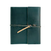 Writers Log Large Leather Notebook - Ocean / Flap-Tie