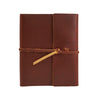 Writers Log Large Leather Notebook - Saddle / Flap-Tie