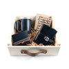 Leather Coffee + Tea Tasting Gift Set - Black