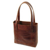 Habitat Leather Tote - Saddle