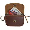 Anchor Card + Coin Leather Wallet - Saddle