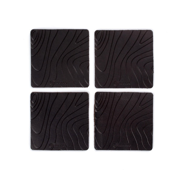 Contour Leather Coaster - Set of Four