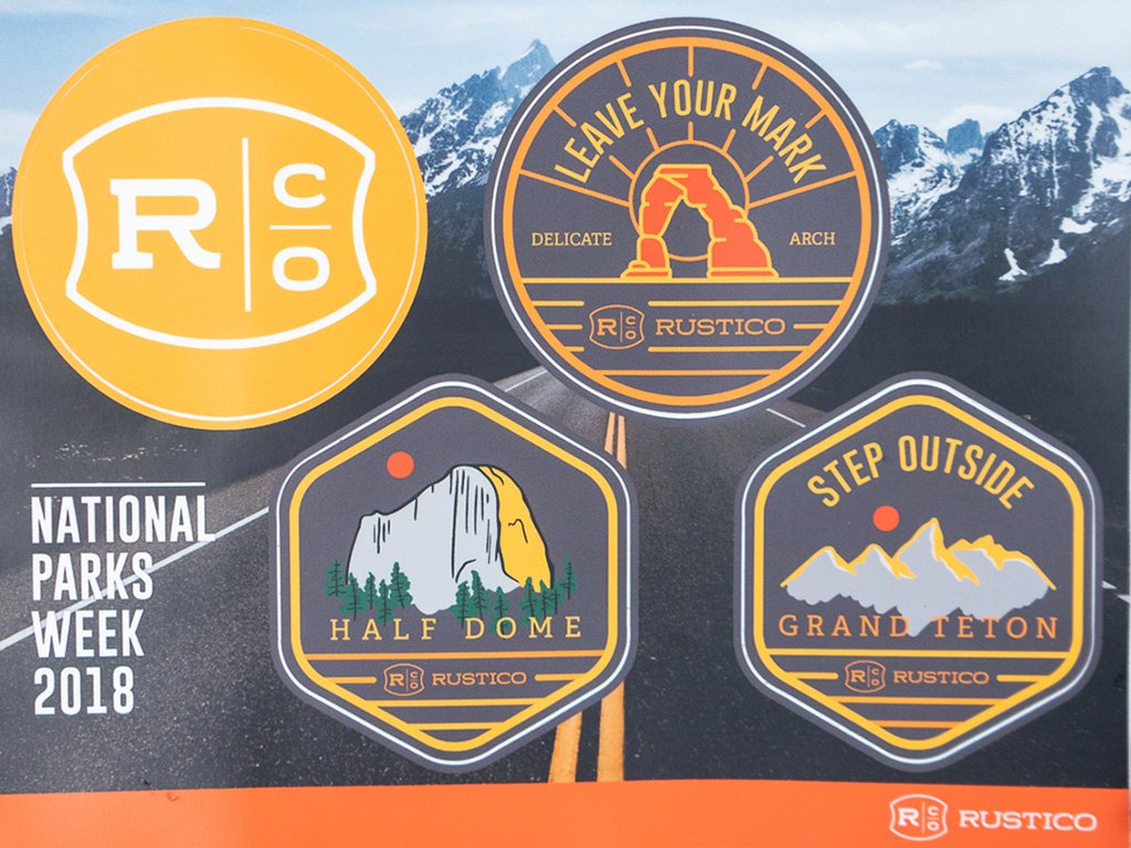 National Parks Week 2018 Stickers