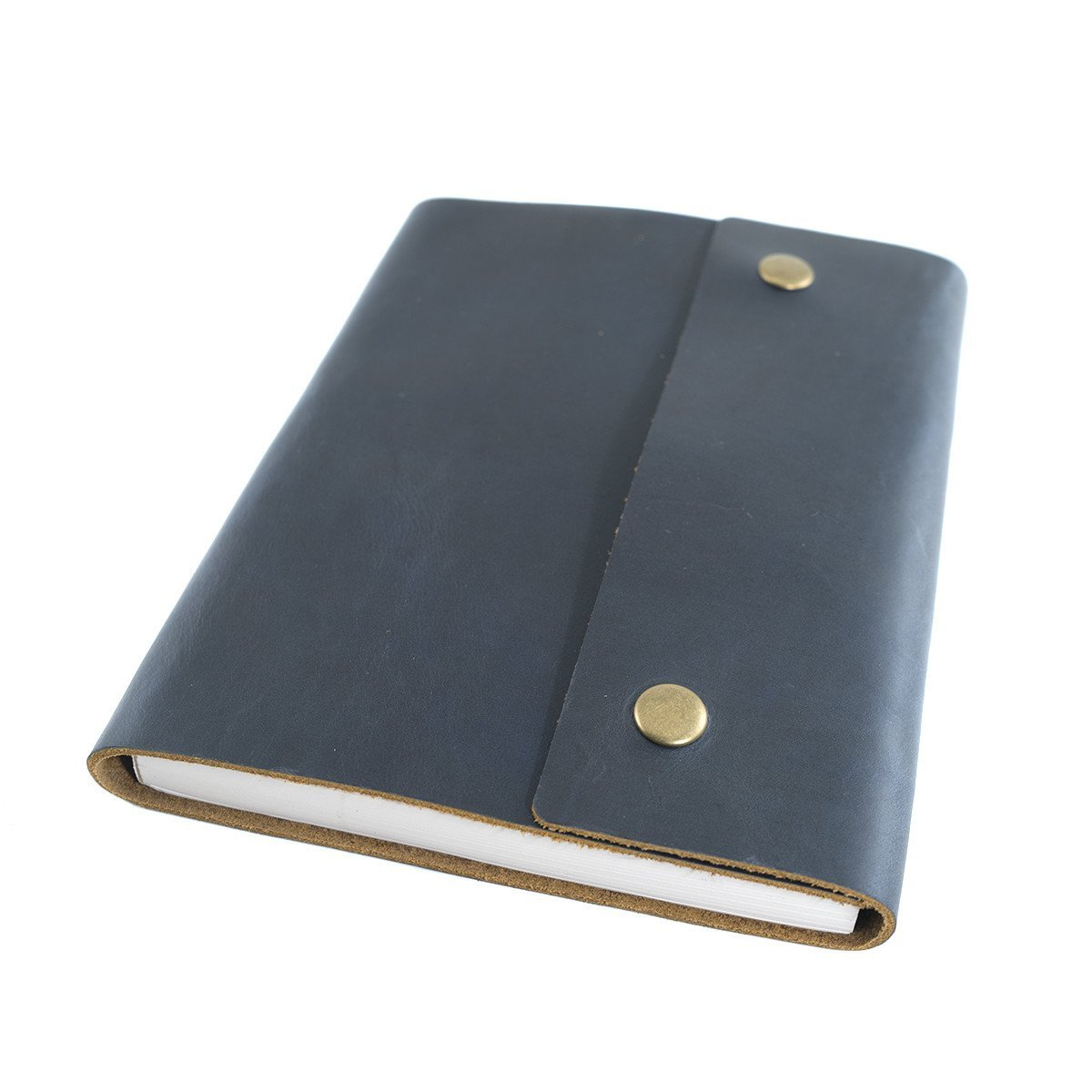 Writers Log Large Leather Notebook - Dot Grid