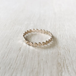 Handmade Boho Mini Dots Stacker Ring
