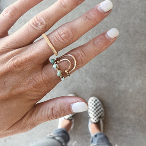 boho minimalist bar ring