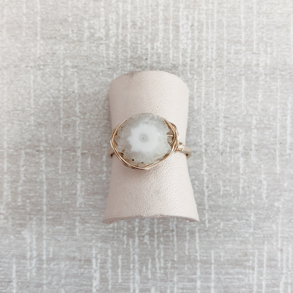 Handmade Boho Color Quartz Stacker Ring