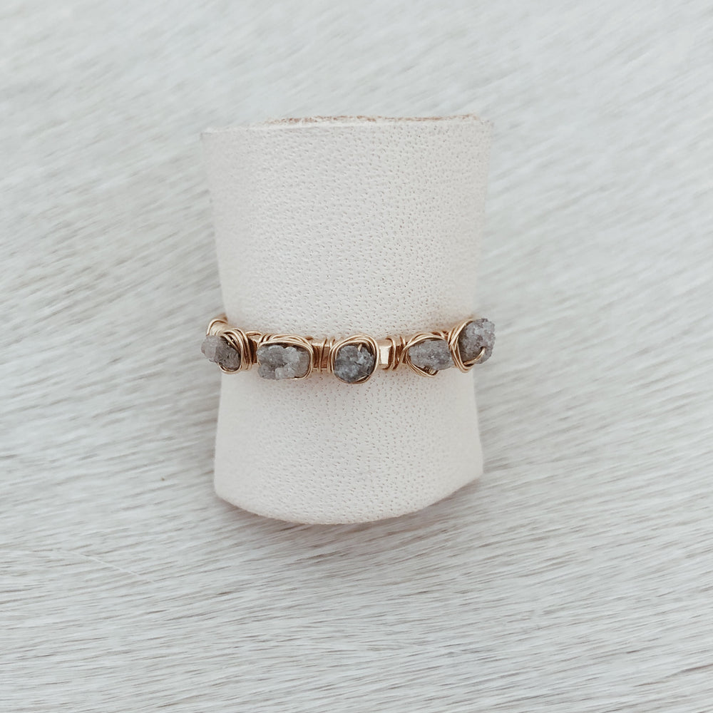 RAW DIAMOND STACK RING