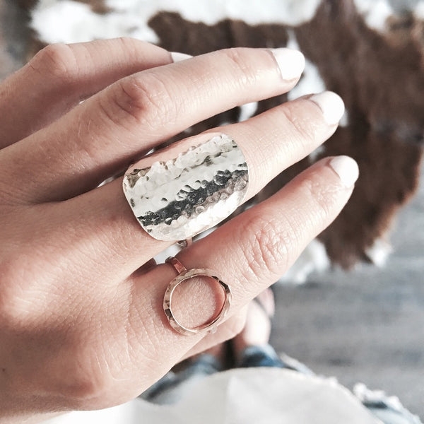 'Pebble Shield' ring