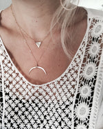 Handmade Boho Double Horn Necklace