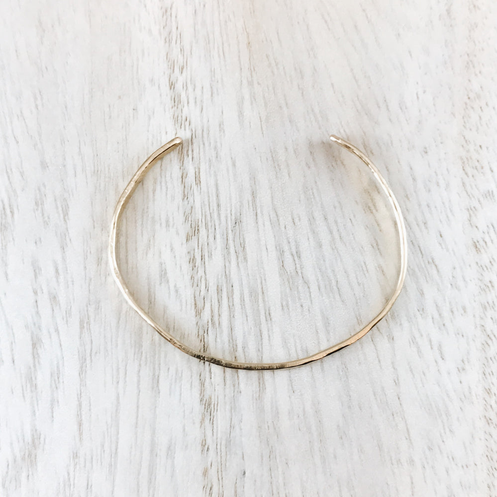 Hand forged boho bangle