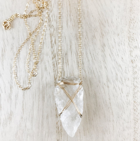 'Malia' arrowhead necklace