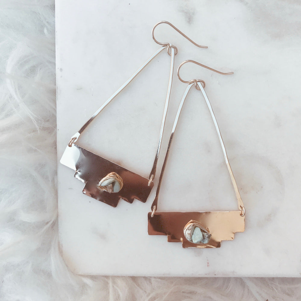 lightweight handmade boho earrings