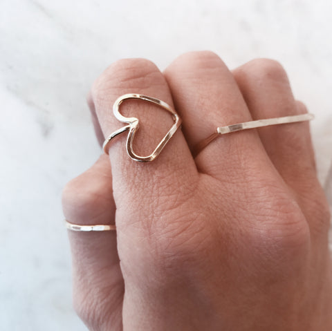 'I heart you' ring