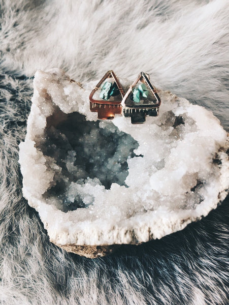 Mountain Stream Post Earrings