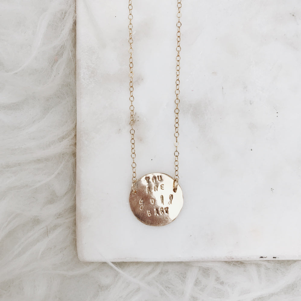 SPLIT STAMP NECKLACE