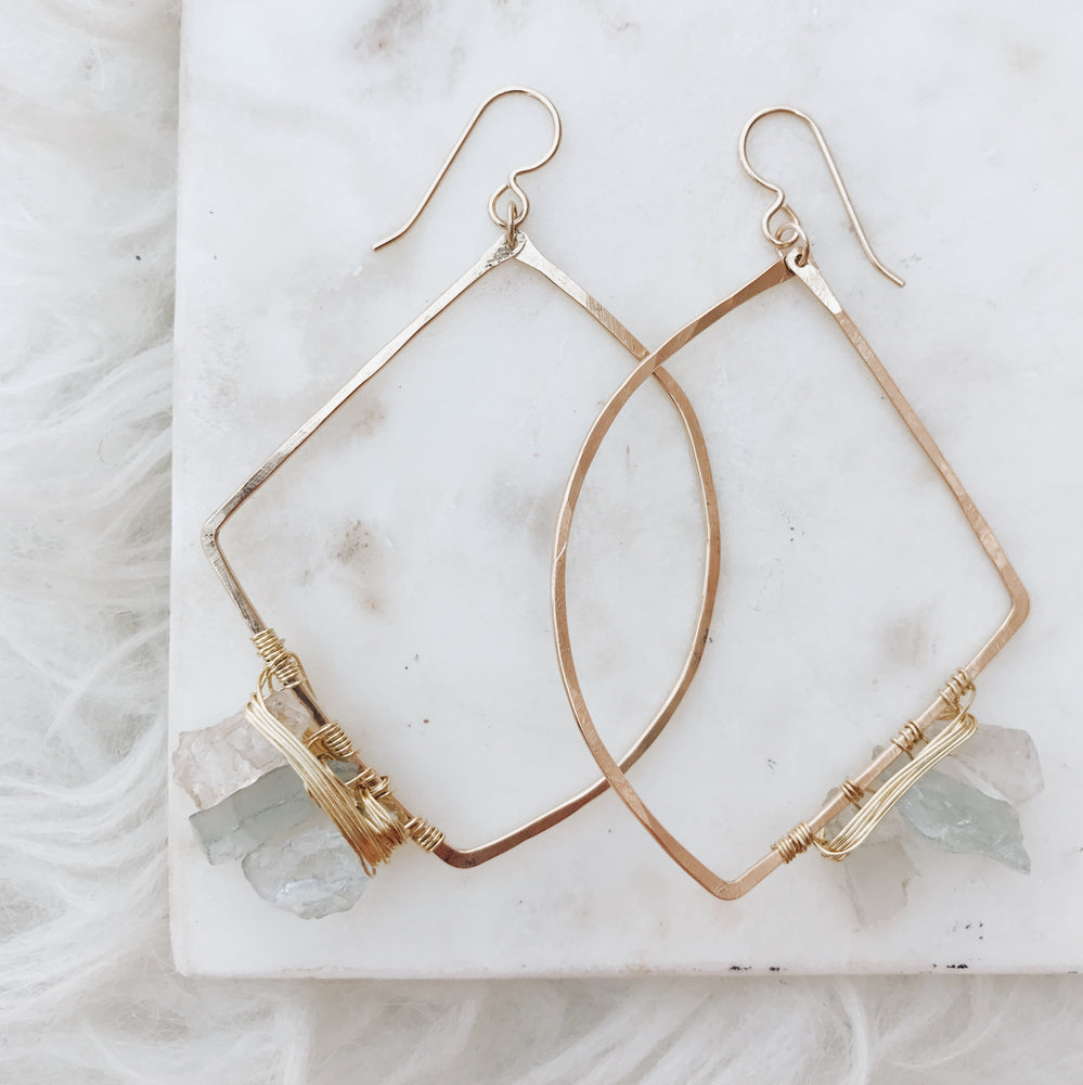 handmade gold fill boho earrings