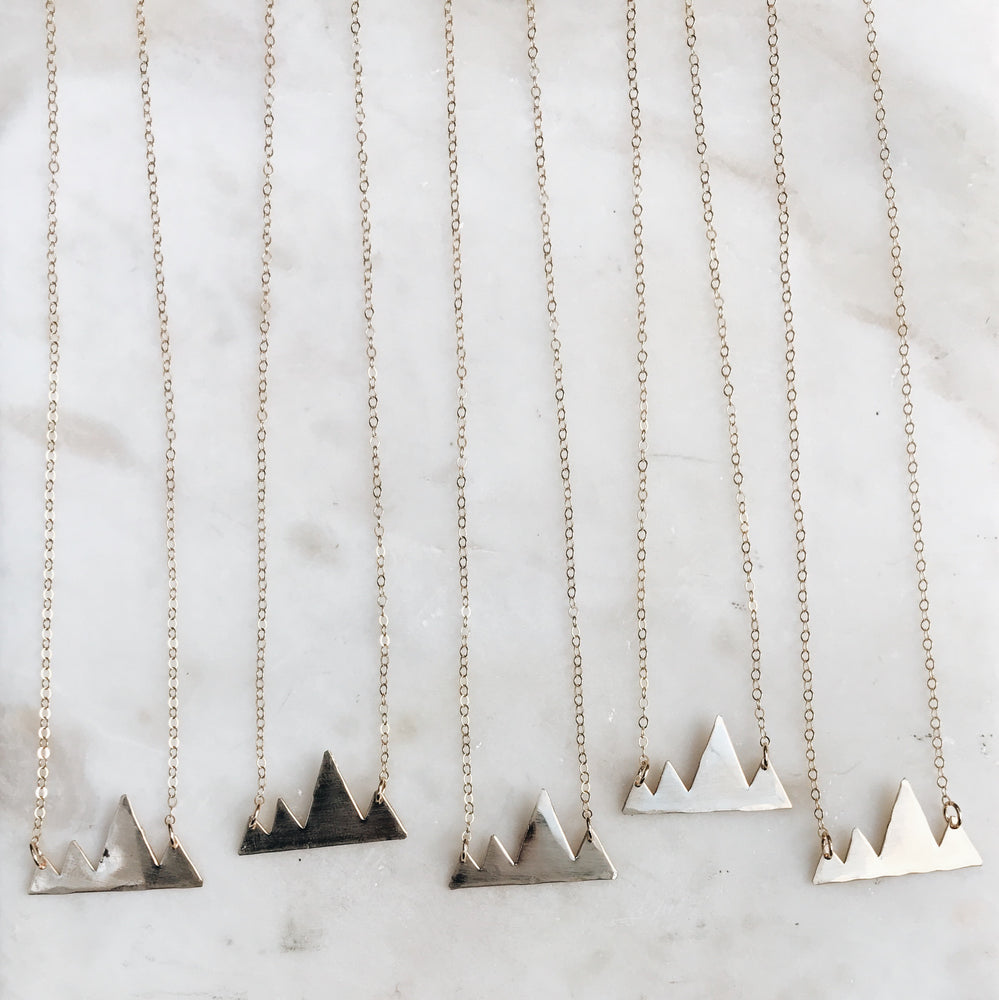 Handmade Boho PNW Mini Mtns Mini Mountains Necklace