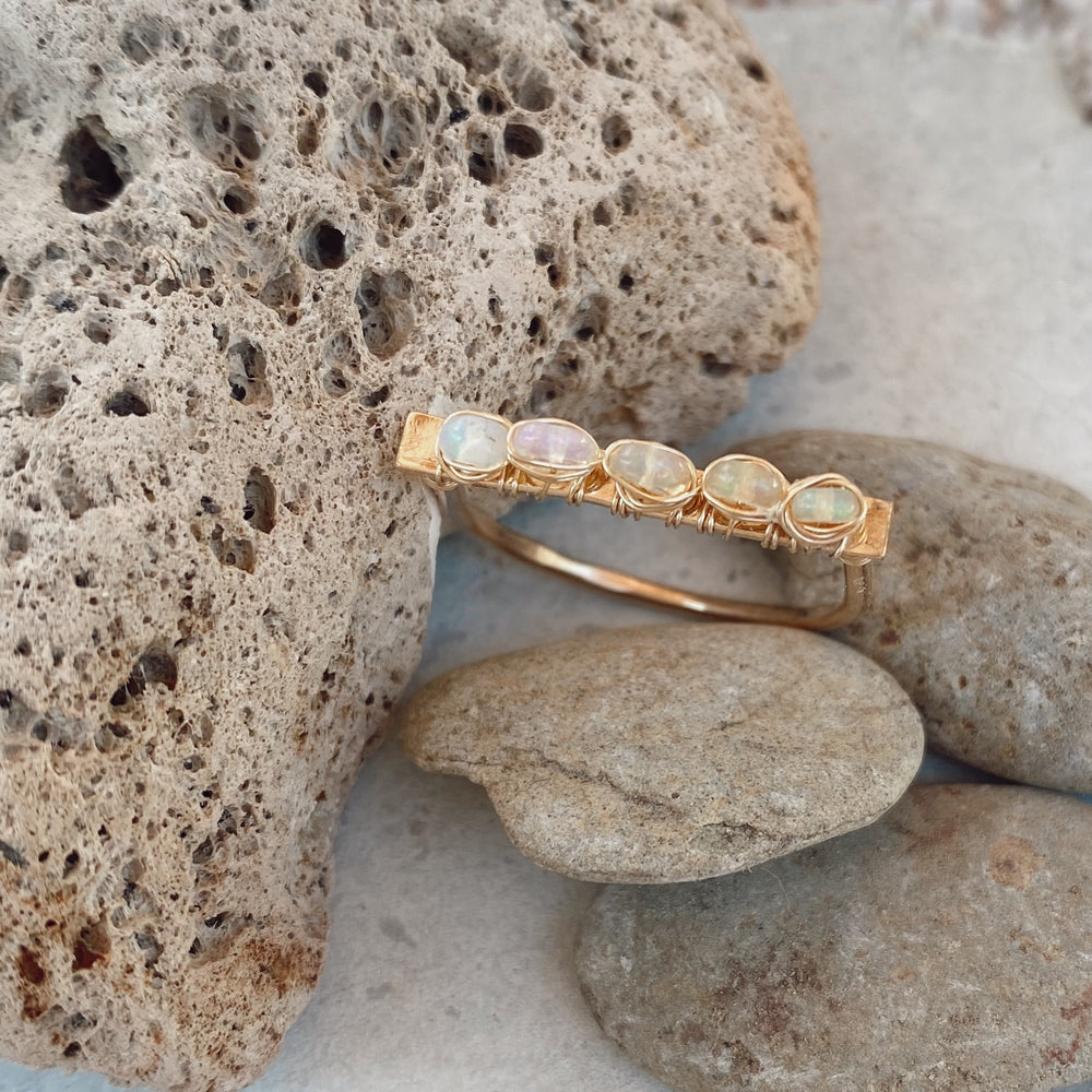 OPAL BAR STACK RING