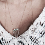 handmade boho crystal necklace