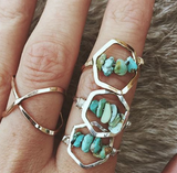 Hexagon Turquoise Ring