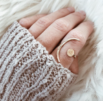 handmade hand hammered boho ring