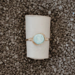 Handmade Boho Peruvian Blue Opal Stacker Ring