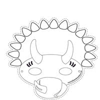 photograph regarding Dinosaur Mask Printable called Cost-free Printables Lello and Monkey