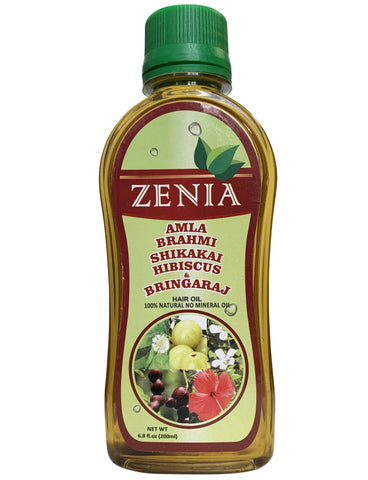 Zenia Amla Brahmi Shikakai Hibsicus Bhringraj Hair Oil Anti-Hair Fall 200ml