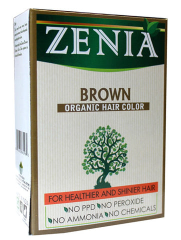 Zenia Organic Henna Hair Color Brown 100g - Zenia Herbal