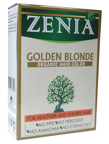 Zenia Organic Henna Hair Color Golden Blonde 100g - Zenia Herbal