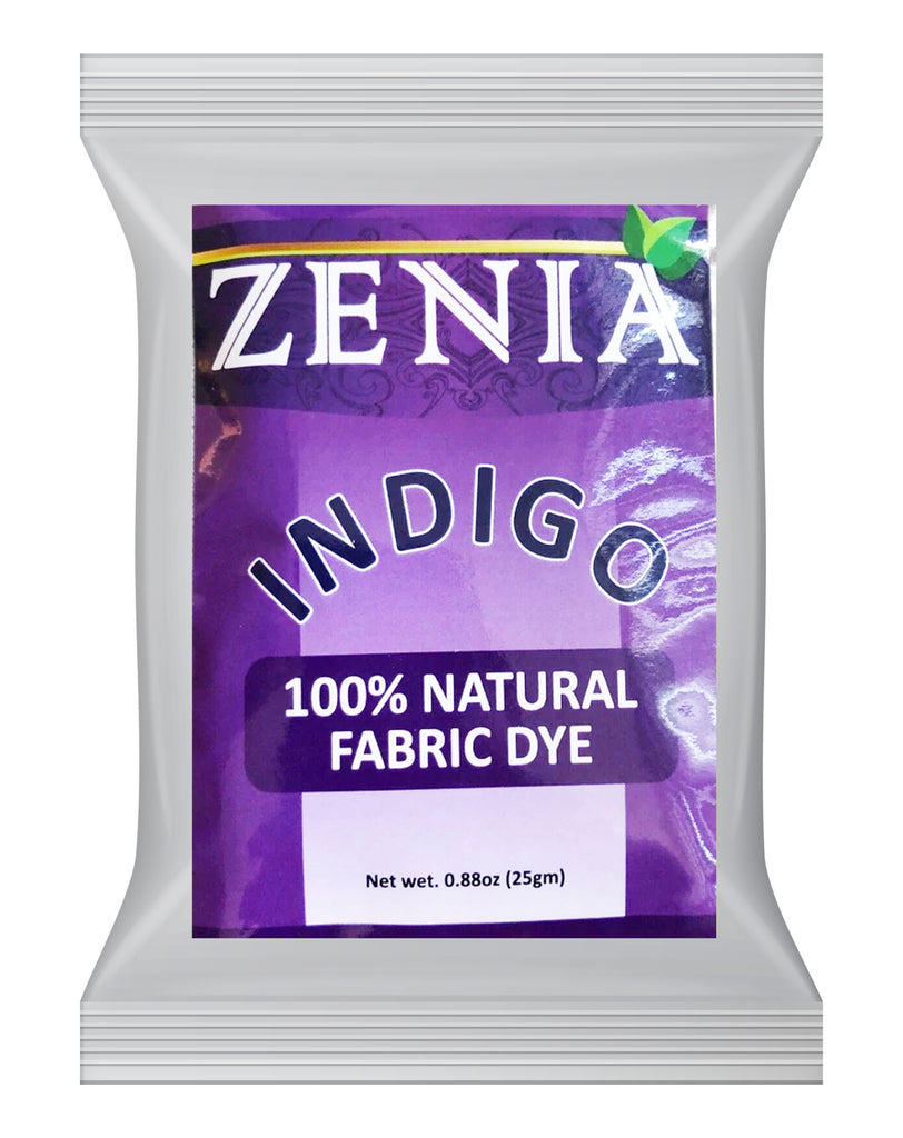Zenia Indigo Powder 100% Natural Fabric Dye 25g