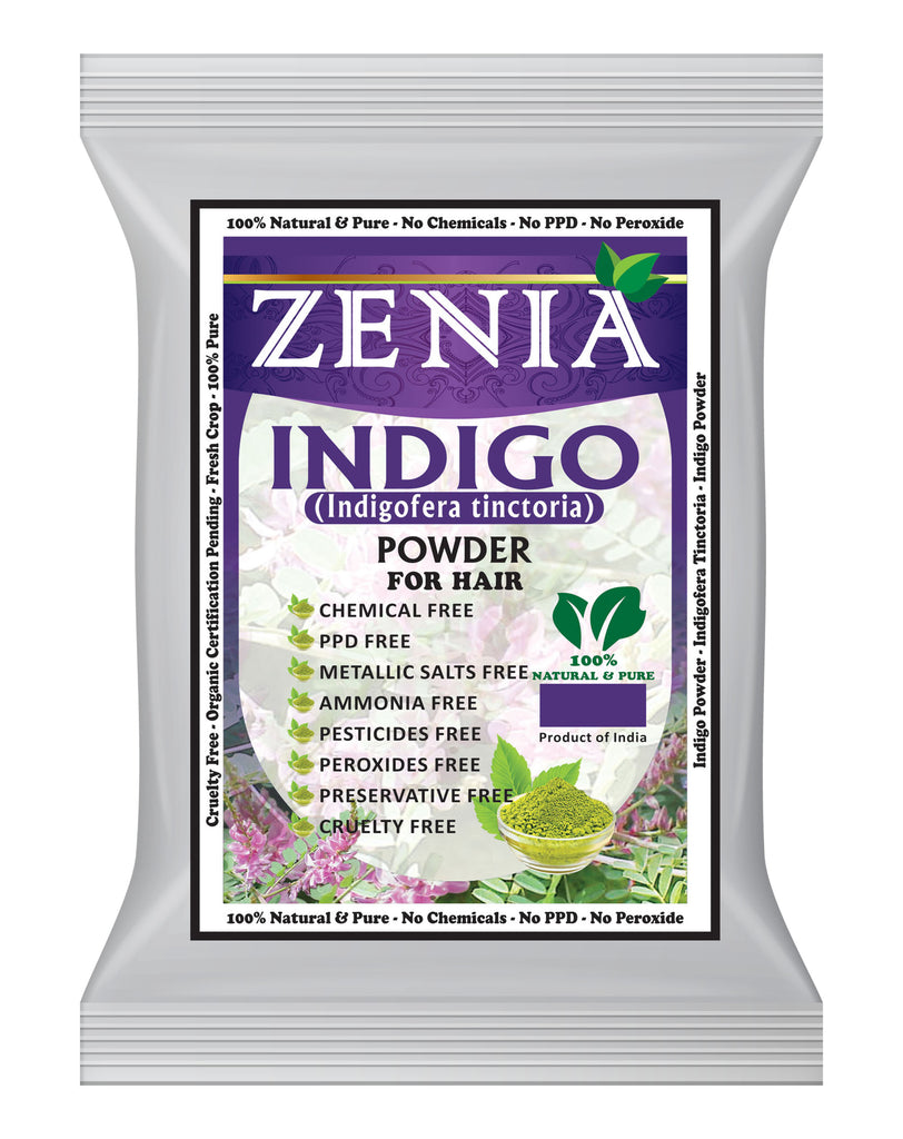 100g Zenia Indigo Powder Hair / Beard Dye Color 2019 Crop