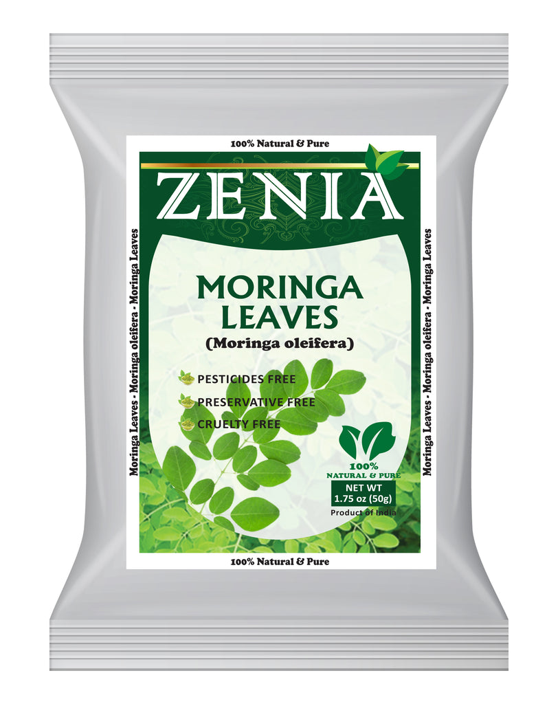 50 grams (1.75oz) Zenia Moringa Oleifera Dried Leaves 100% Pure