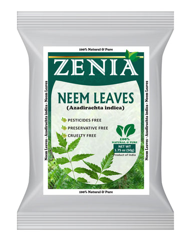 50 grams (1.75oz) Zenia Neem Leaves 100% Pure