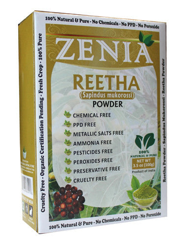 100g Zenia Aritha Reetha Powder Box - Zenia Herbal